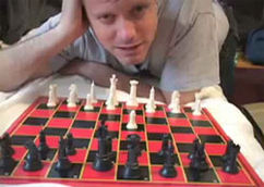 Ze playing chess on his 06-23-06 show